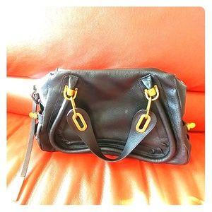 Foley & Agamo Black Leather Bag
